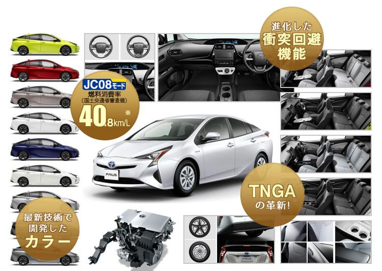 燃費40.8km/Lを達成・TNGAの革新!・進化した衝突回避機能・最新技術で開発したボディカラー