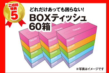 ご成約特典5 BOXティッシュ60箱