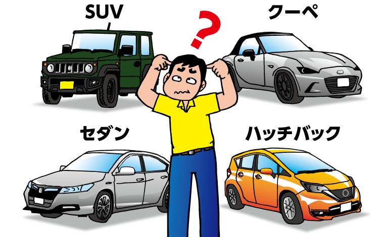 車の種類がよくわからない人向け! <br> 形(ボディタイプ)で覚える車の種類