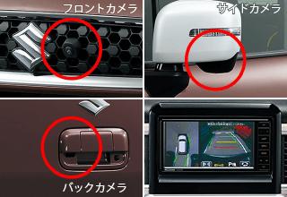 クロスビーの全方位モニター用カメラパッケージ